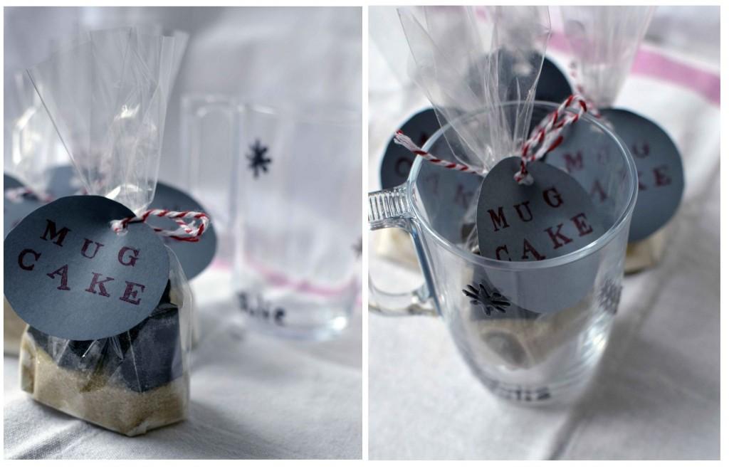 DIY Kit à mug cake cadeau de Noël fait maison