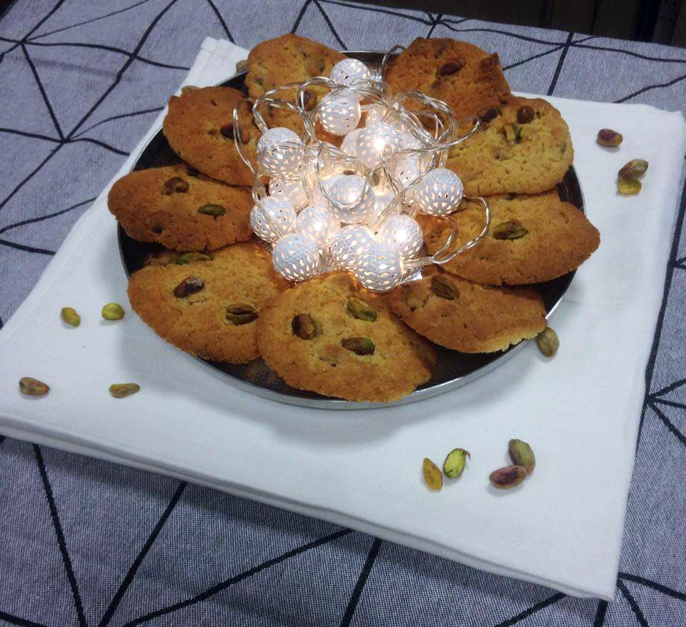 Cookies à la pistache et huile de pistache à La Tourangelle