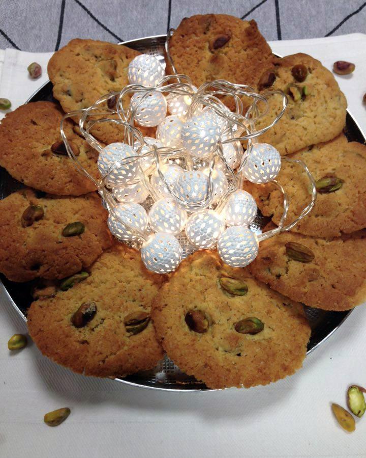 cookies à la pistache et huile de pistache La Tourangelle