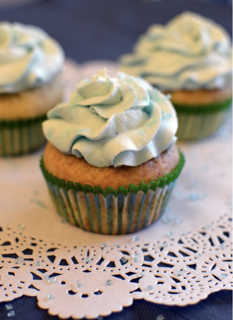 cupcakes chantilly color'arome myrtille