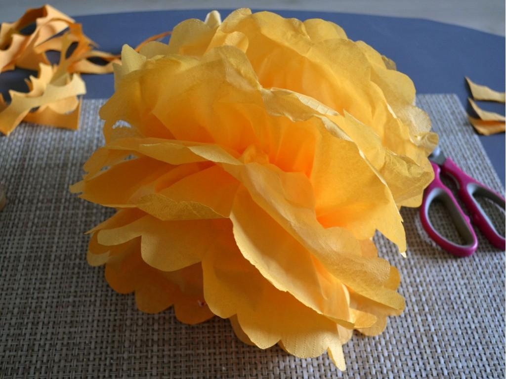 DIY Pompon serviette en papier