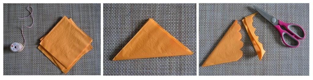 DIY pompon serviettes en papier