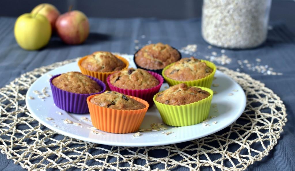 muffins flocons d'avoine pomme et raisins infusés naks
