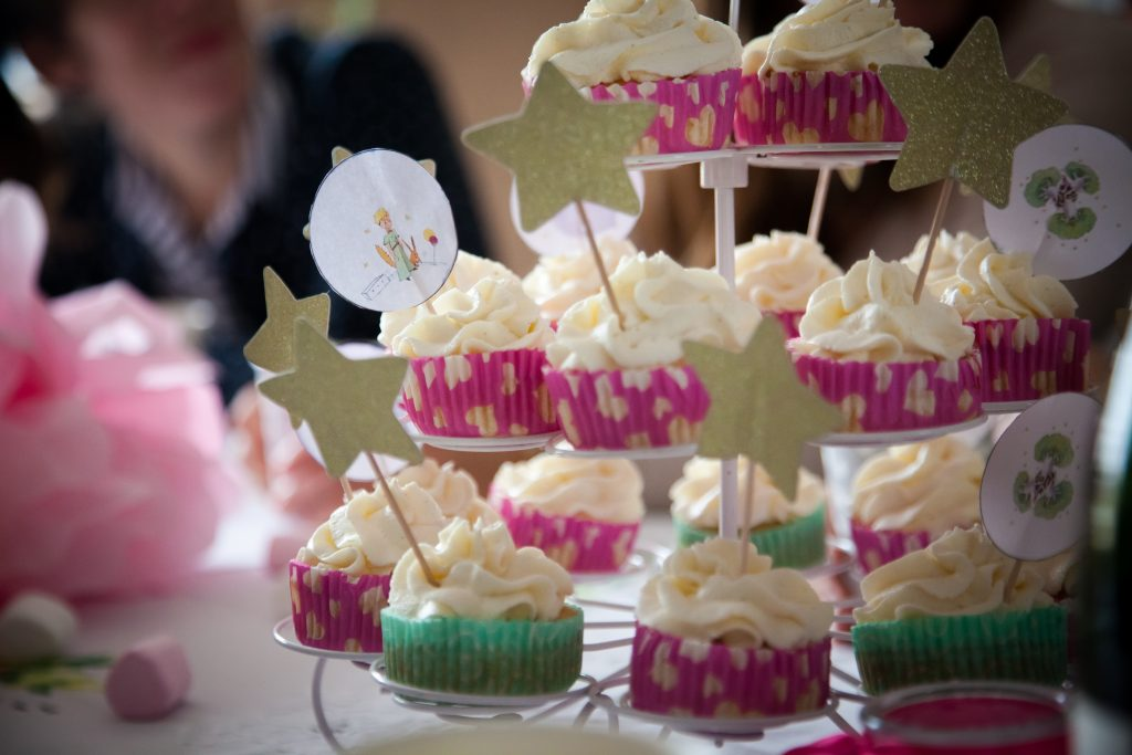 cupcakes chantilly mascarponne baby shower