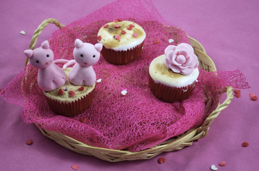 cupcakes-framboise-meringue-modelage-pâte-à-sucre