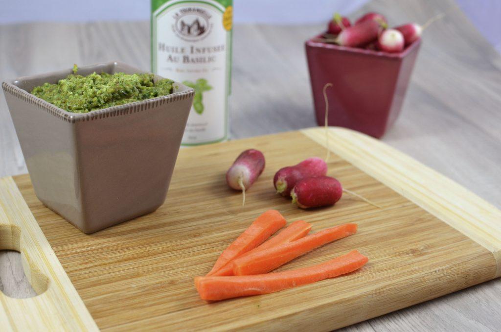 pesto-fan-de-radis-dips-de-légumes